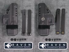 NEW RAVEN CONCEALMENT GLOCK 19 23 26 27 32 33 MORRIGAN IWB KYDEX HOLSTER BLACK