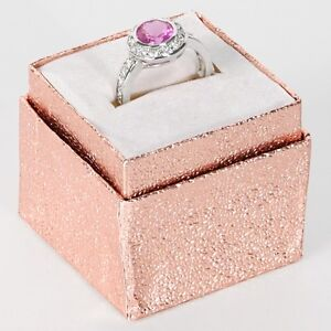 Details About 100 Pc Pink Ring Boxes Jewelry Gift Box Jewelry Display Hat Top Rose Ring Boxes