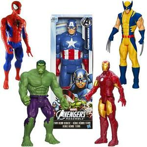 "Spiderman Ironman Captain America Wolverine Hulk Thor 30cm 12 ""action Figures-afficher Le Titre D'origine"