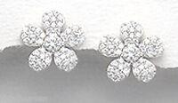 Sterling Silver 11mm SPARKLY Daisy Stud Earrings + Premium Heavy Duty Backs 2g