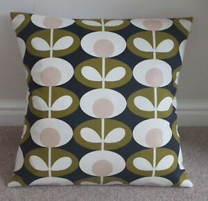 HANDMADE  OVAL FLOWER CUSHION COVER IN GREY  16 X 16/""