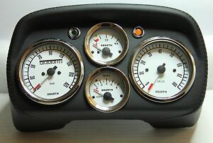 classique fiat 500 595 abarth compteur de vitesse tableau de bord boutons cuir ebay. Black Bedroom Furniture Sets. Home Design Ideas