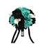 9-034-Artificial-Wedding-Bouquet-Spa-Aqua-and-Black-Roses-with-White-Calla-Lily thumbnail 2