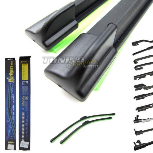 2x Premium Soft Flat Essuie-Glace Essuie-glace feuille plat poutres Adaptateur 600//475mm
