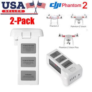 2Pack Intelligent Flight 11.1V 5200mAh 3S Lipo Battery DJI Phantom 2 RC Drone