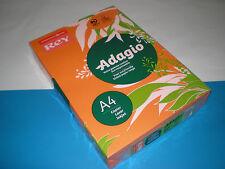 500 Bl. Kopierpapier orange REY Adagio A4 80g matt 70 % PEFC farbig NEU & OVP