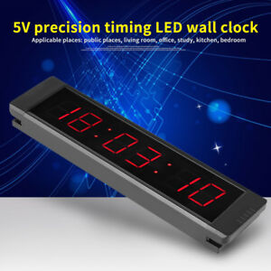 GI6T-1R LED Remote Wall Clock Prscise Timer Stopwatch for Fitness Training