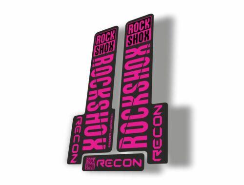 Rock Shox RECON 2018 Mountain Bike Cycling Decal Kit Sticker Adhesive Purple