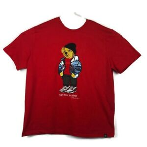 Hudson-Outerwear-Mens-100-Authentic-Hype-Bear-Size-3X-T-Shirt-Red