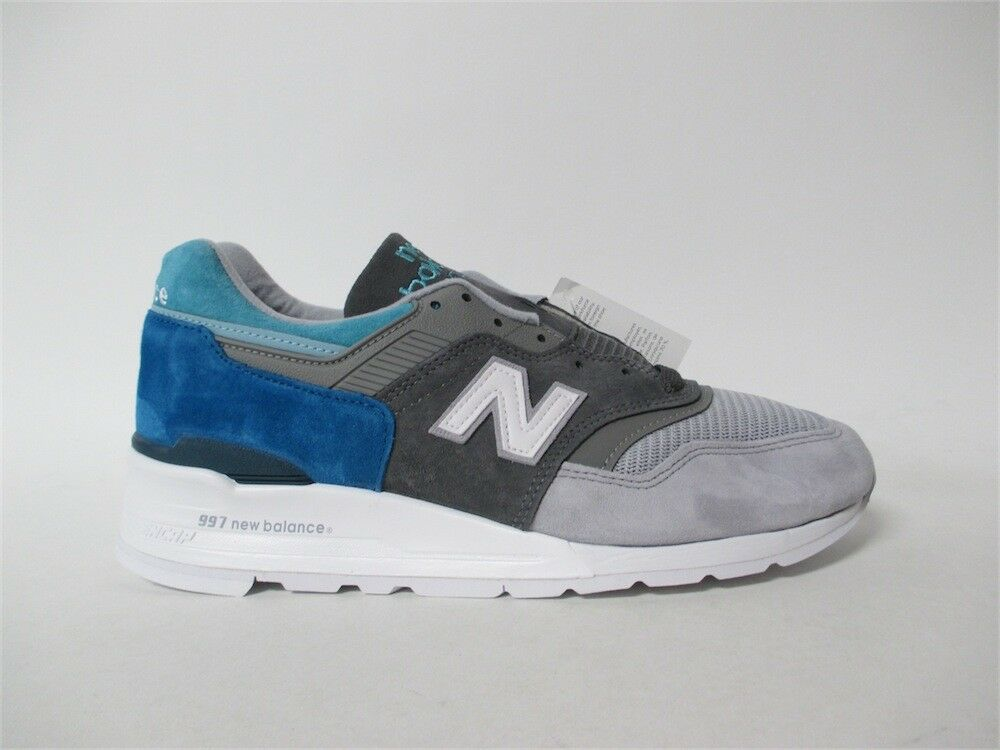 New Balance 997 Made in USA Grigio bianca Blue Concepts Sz 9 M997CA