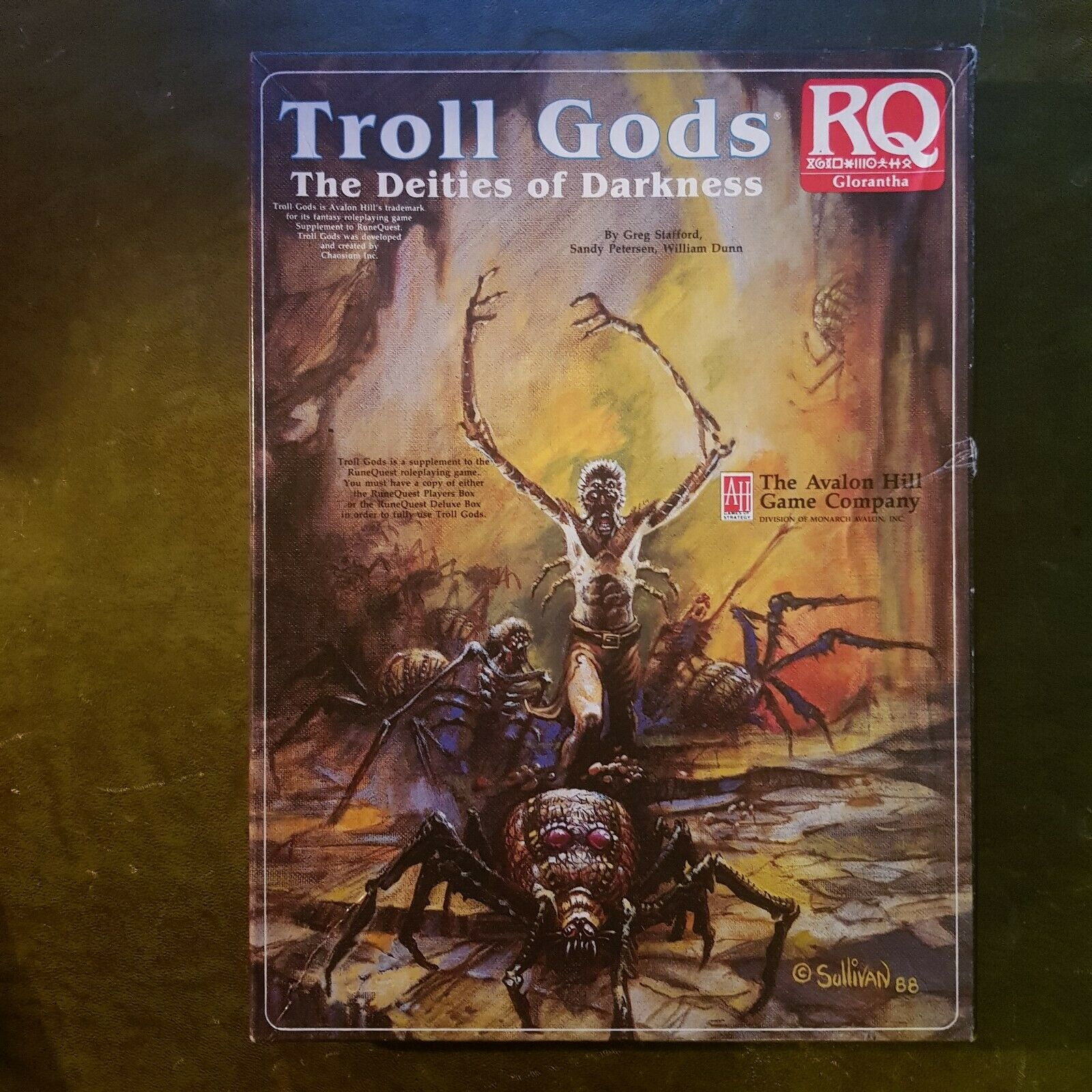 Troll  dèi-correreequest glorantha rpg di ruolo Chaosium RQ Troll Avalon Hill  acquisto limitato