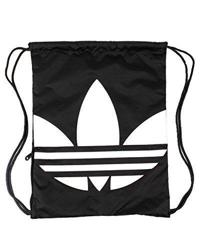 96da3ba895 Adidas Originals Gymsack Trefoil Sports Basic Design Gym Soccer Black NWT  AJ8986