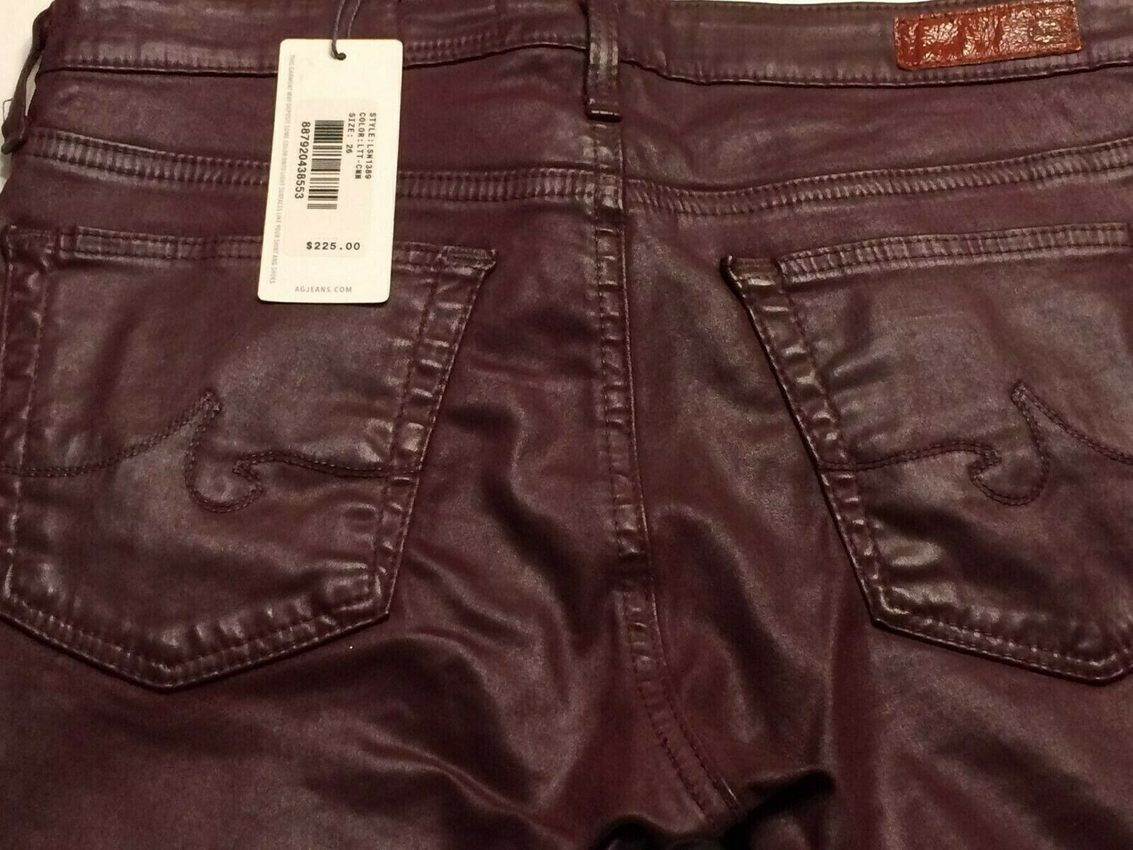 Adriano goldschmied Womens Legging Ankle Skinny Faux Leather Jeans  225 Size 26