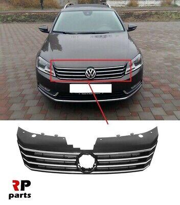 Para Volkswagen Passat B7 2011-2014 Parachoques Delantero Parrilla Inferior Centro Negro