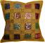 Cuscino-copre-16-034-x16-034-INDIANO-PESANTE-RICAMO-Sari-patchwork-Quadrato-Con-Zip-40cm miniatura 9