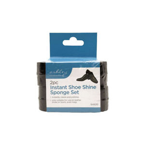 Ashley Instant Shoe Shine Sponge Cleaner 2PK