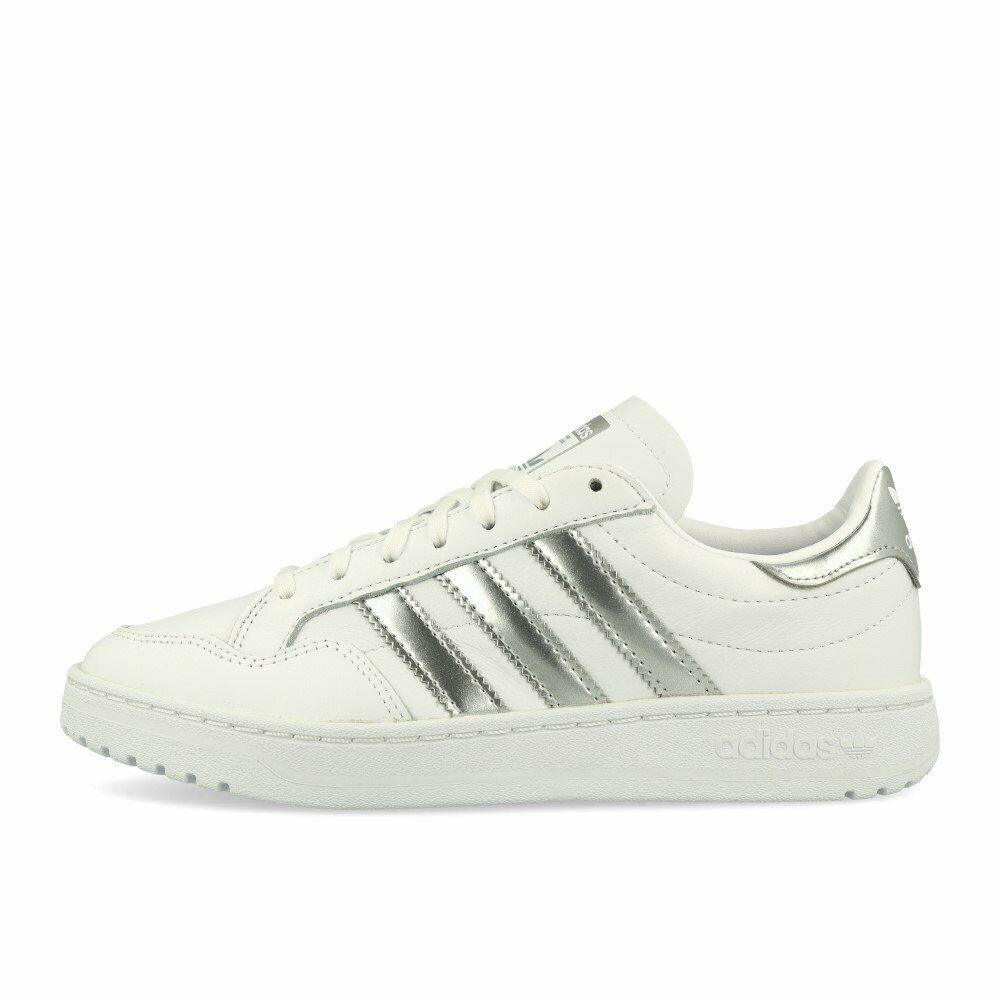 Adidas Team Court W Weiß Silber Metallic Weiß Schuhe Turnschuhe Weiß Silber