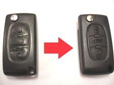 Reparatur service für Peugeot 407 607 307 3 tasten fernbedienung klappschlüssel+