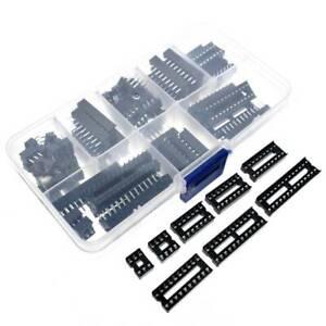 66PCS-DIP-IC-Sockets-Adaptor-Solder-Type-Socket-6-8-14-16-18-20-24-28-Pins
