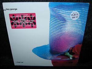 BOY-GEORGE-High-Hat-1989-U-S-Gold-Foil-Stamped-Promo-LP-w-Lyric-Sleeve