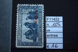 FRANCOBOLLI-ITALIA-COLONIE-ERITREA-USATI-N-105-F11422