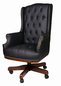 Managers Directors Chesterfield Antique Style Pu Leather