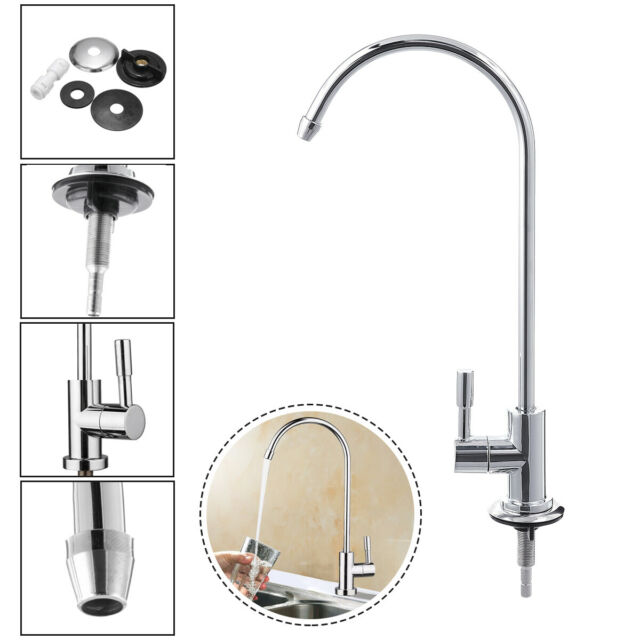 1/4\'\' Chrome RO Reverse Osmosis Kitchen Sink Drinking Water Filter Faucet  Tap