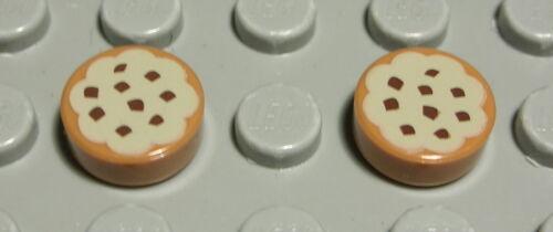 LEGO carreau-mosaïque rond 1x1 imprimé avec Cookie de Friends 2 pièces 2286 a