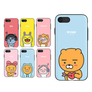 the best attitude 30545 11e45 Details about KAKAO FRIENDS Card Mirror Double Bumper Case Cover For Apple  iPhone 7/7 Plus