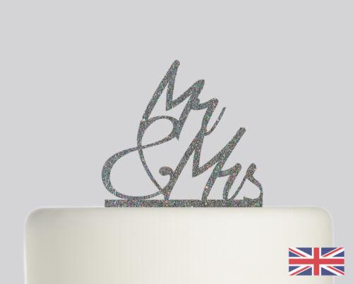 Mr and Mrs Wedding Cake topper Acrylic Glitter cake Decoration.759