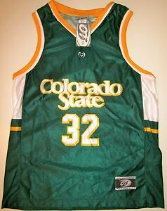 new concept 49d05 128a2 Details about COLORADO STATE RAMS YOUTH BASKETBALL JERSEY NCAA #32 NEW!  SMALL OR MEDIUM