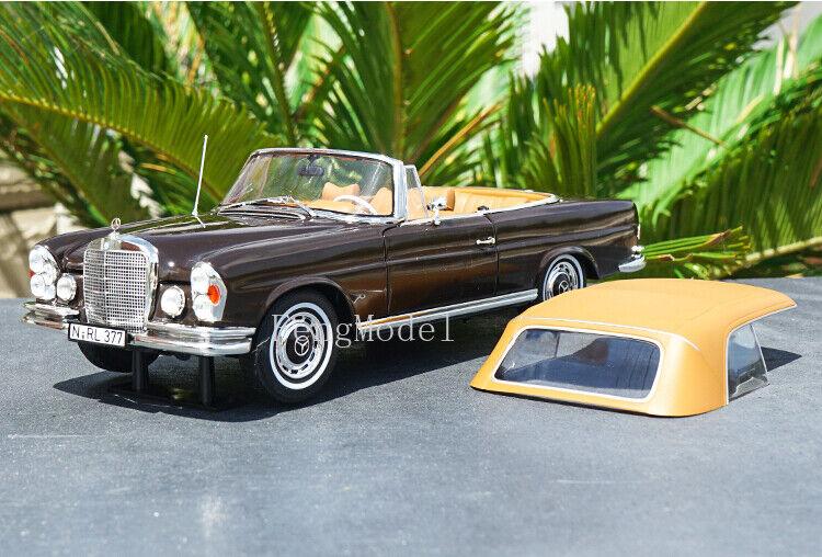 1 18 Mercedes-Benz 280SE CABRIOLET 1969 Diecast modèle de voiture collection décoration