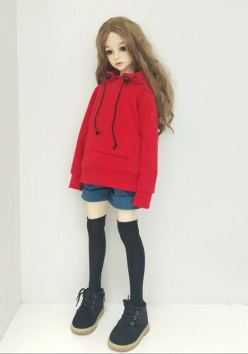 1//4 1//3 BJD Doll Clothes Causal Long Sleeves Hoodie Coat AOD DOD MID LUTS Unisex