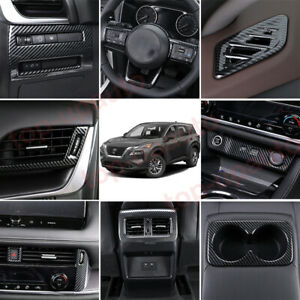 For Nissan Rogue 2021-2022 ABS Carbon Interior Full set Accessories Kit Trim 18P