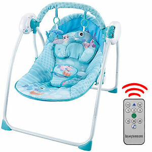 Babywippe-Babyschaukel-Automatische-Gliding-Swing-amp-Rocker-Holden-Musik-Time