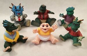 Vintage-Jim-Henson-Dinosaurs-Toy-Rubber-Figures-Earl-Francis-Robbie-Baby-1990s