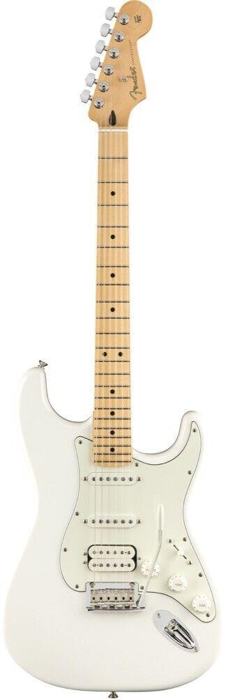 Stratocaster Stratocaster Stratocaster HSS diapasón de arce Fender Player Guitarra Eléctrica blancoo Polar 1988f9