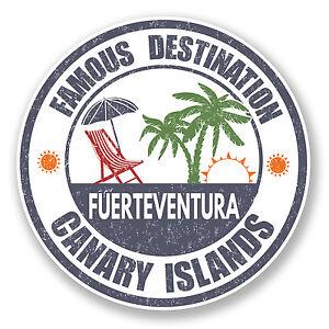 2 x Fuerteventura Vinyl Sticker Car Travel Luggage #9868