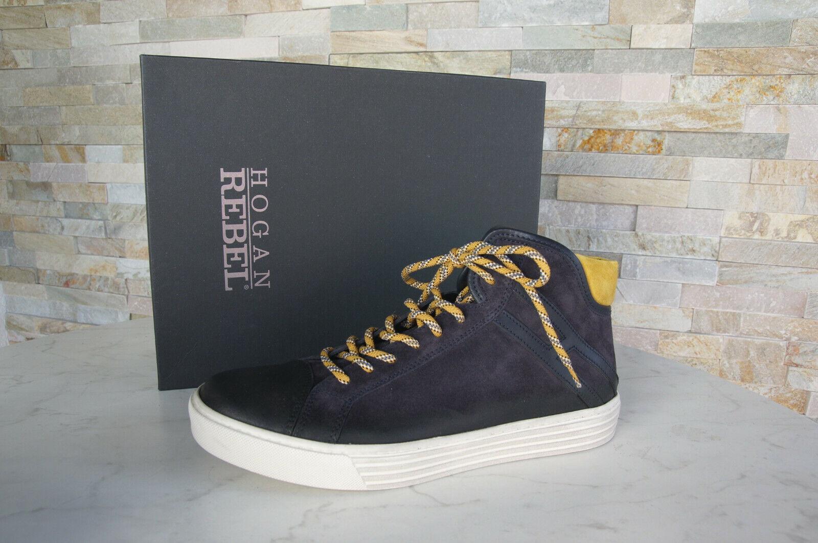 Hogan 6 40 High Top zapatillas Vintage Lace Up zapatos New zapatos azul formerly