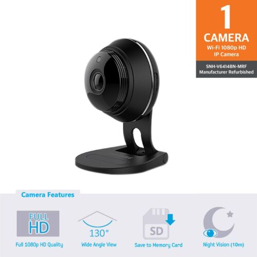 Certified Samsung SNH-V6414BN SmartCam Full HD Plus 1080p WiFi IP Camera Black