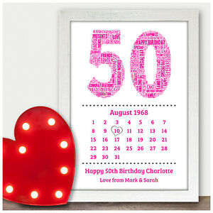 Image Is Loading Personalised 30th 40th 50th 60th 70th Birthday Date
