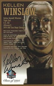 Kellen Winslow San Diego Chargers  Football Hall Of Fame Autographed Bust Card