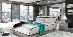Rodos 180/200 letto con telaio PORTAMATERASSO moderno cassettoni per ...