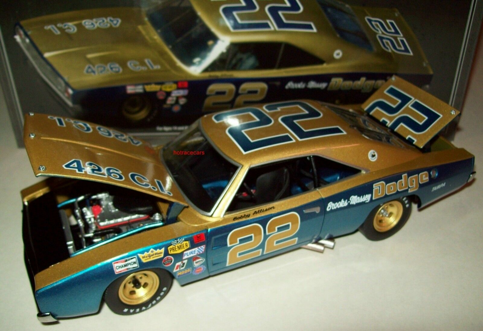 Bobby Allison 1969 Dodge Charger 500 Brooks Massey 1 24 Racing Legends New