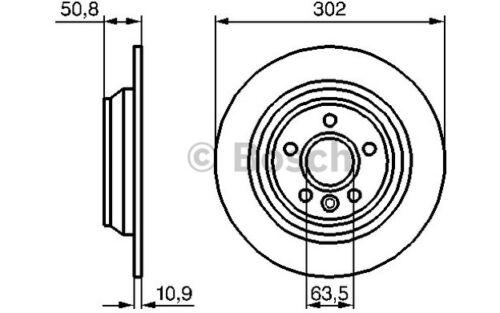 BOSCH Juego de 2 discos freno Trasero 302mm FORD MONDEO FOCUS 0 986 479 254