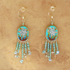 Sea-Turtle-Earrings-Peruvian-Beaded-amp-Hand-Painted-Jewelry-Fair-Trade-Sealife
