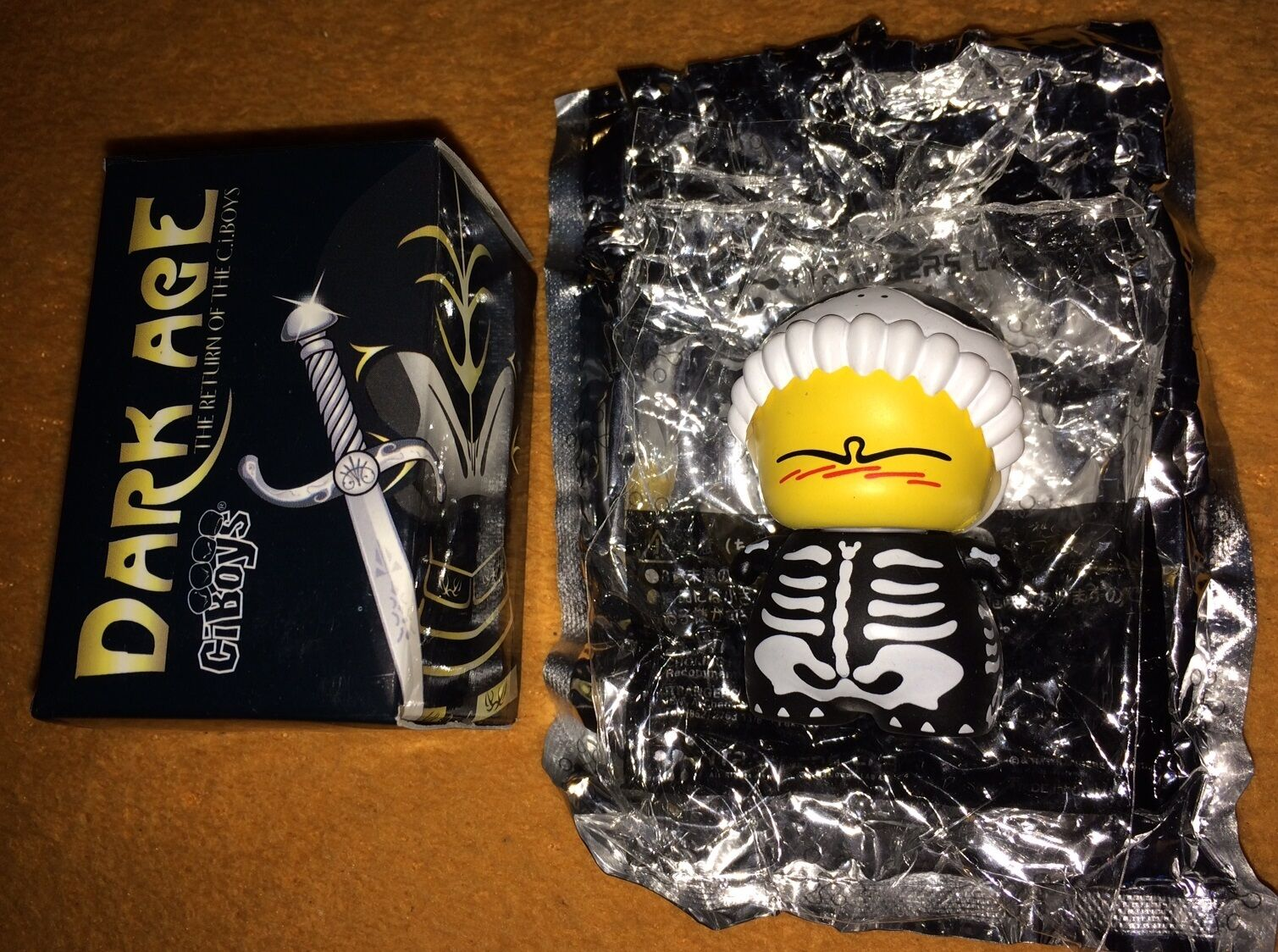 CIBOYS DARK AGES  RARE CHASE  Mini Toy Figure By Red Magic Dunny Kidrobot Qee