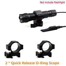 """2* Quick Release 30/25mm 1"""" Rings for 20mm Weaver/picatinny Rail Scope Mount QD"""