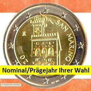 Kursmunzen-San-Marino-eine-Kursmunze-Ihrer-Wahl-aus-1-Cent-2-Euro-Munze-ab-2002