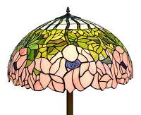 Fl01 Handmade 22 Pink Flower Tiffany Style Floor Light - Home / Christmas Gift